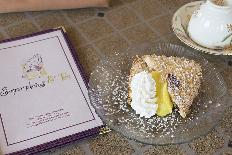 Lemon Scone with Whipped Cream and a Menu
